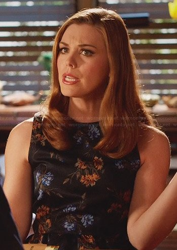 AnnaBeth's black floral dress on Hart of Dixie