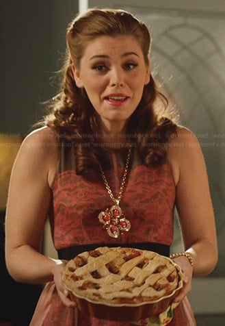 AnnaBeth's orange lace dress on Hart of Dixie