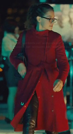 Cosima's red coat on Orphan Black