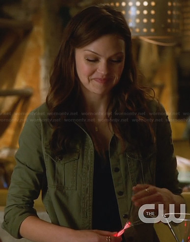 Emery's green military style shirt on Star-Crossed