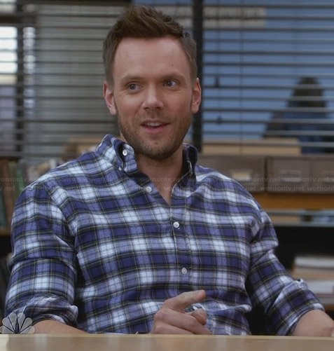 Jeff's blue flannel shirt on Community