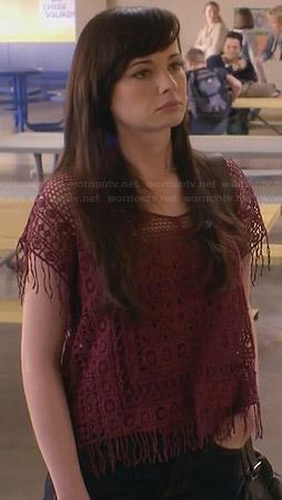 Jenna's red crochet top on Awkward