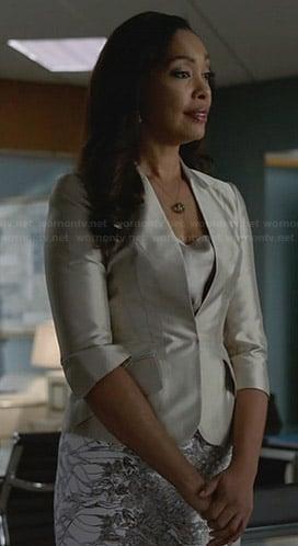 Jessica's metallic blazer on Suits
