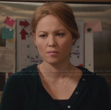 Julia's black henley hoodie on Parenthood