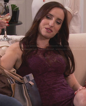 Kate's burgundy lace illusion dress on Friends with Better Lives