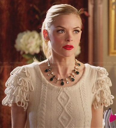 Lemon's white cable knit sweater on Hart of Dixie