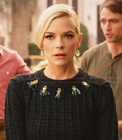 Lemon's green bug embellished sweater on Hart of Dixie