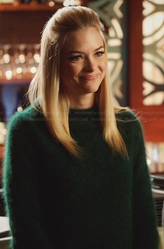 Lemon's green fluffy sweater on Hart of Dixie