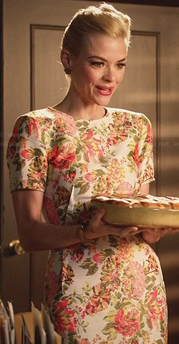 Lemon's floral short sleeved dress on Hart of Dixie