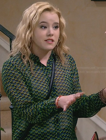 Lennox's green and yellow heart print shirt on Melissa and Joey