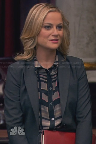Leslie's grey plaid shirt on Parks and Recreation