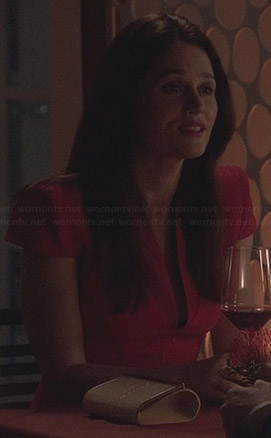 Lisbon's red cap sleeve dress on The Mentalist