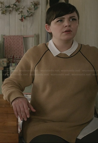 Mary's tan sweater with black trim on Once Upon a Time