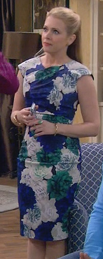 Mel's blue and green floral dress on Melissa and Joey