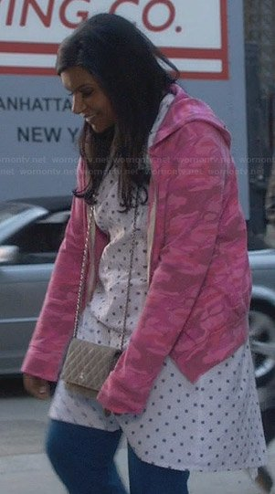 Mindy's pink camo hoodie on The Mindy Project