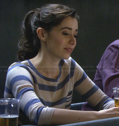 The Mother's blue striped sweater on How I Met Your Mother