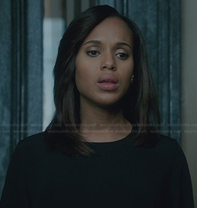 Olivia's black and white blouse on Scandal