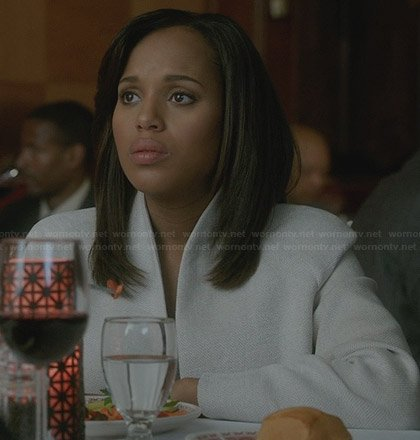 Olivia's white jacket on Scandal