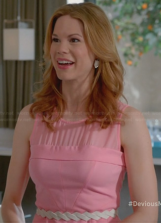 Peri's pink mesh yoke peplum top on Devious Maids