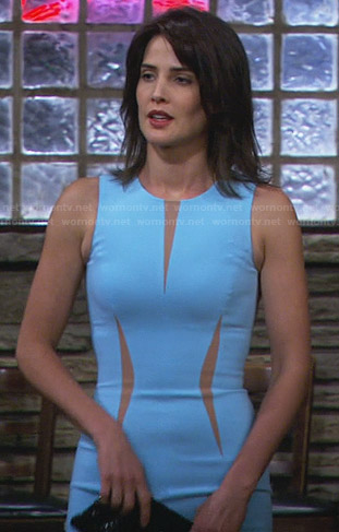 Robin's light blue dress with nude insets on How I Met Your Mother