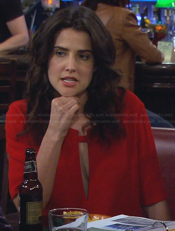 Robin's red cutout top on How I Met Your Mother
