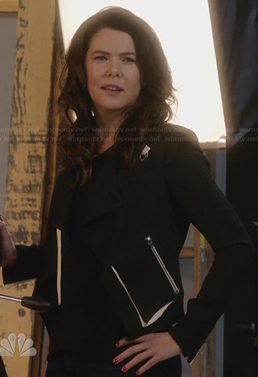 Sarah's black jacket with white trim on Parenthood