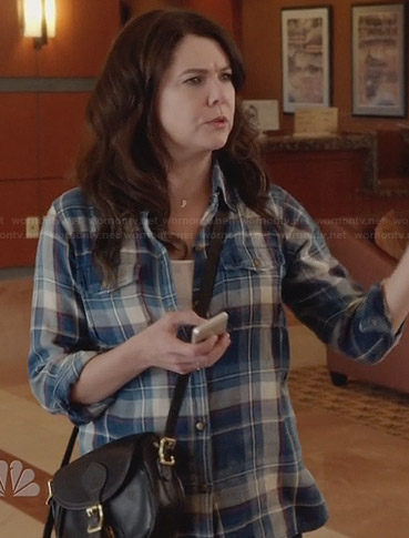 Sarah's blue plaid shirt on Parenthood