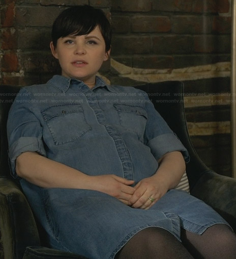 Mary's denim shirtdress on Once Upon a Time