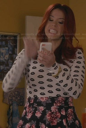 Tamara's lips print top on Awkward