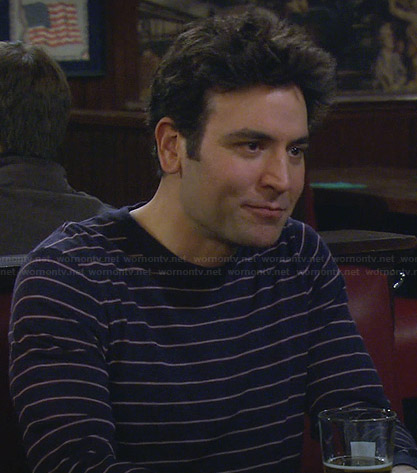 Ted's navy striped sweater on How I Met Your Mother