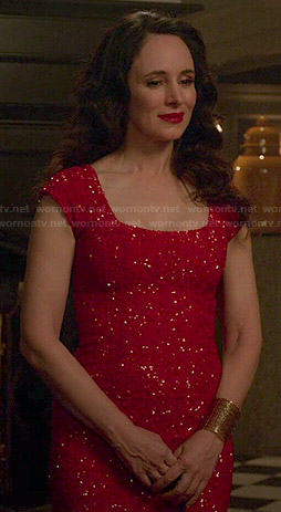 Victoria's red sequin dress on Revenge