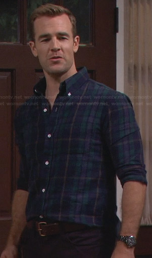 Will's navy and green plaid shirt on Friends With Better Lives