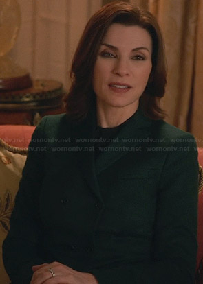 Alicia's green double breasted blazer on The Good Wife