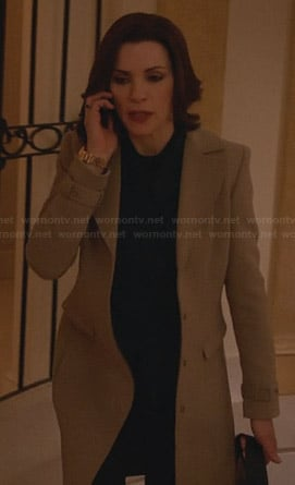 Alicia's beige coat on The Good Wife
