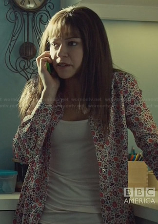 Alison's pink floral shirt on Orphan Black