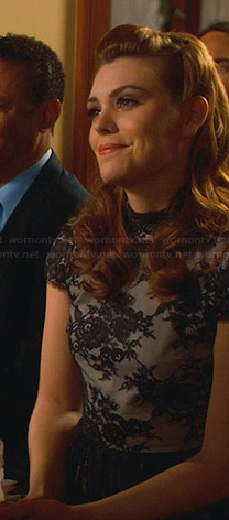 AnnaBeth's blace lace dress on Hart of Dixie