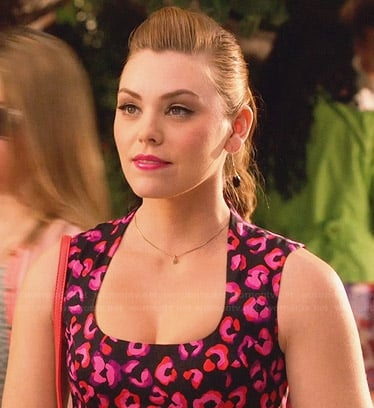 AnnaBeth's black and pink leopard spot print dress on Hart of Dixie
