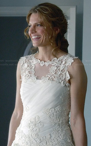 Beckett's wedding dress on Castle