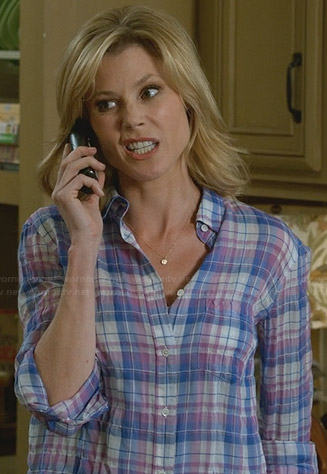 Claire's crinkled plaid shirt on Modern Family