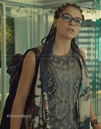Cosima's grey lace tank top on Orphan Black