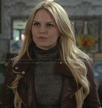 Emma's burgundy leather jacket on Once Upon a Time
