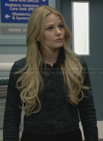 Emma's dark wash denim jacket on Once Upon a Time