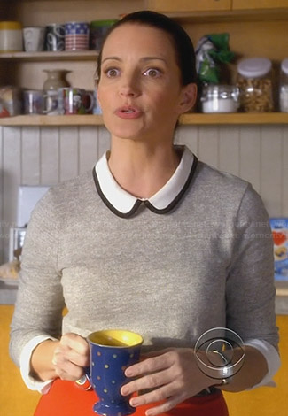 Ginny's grey sweater with peter pan collar on Bad Teacher