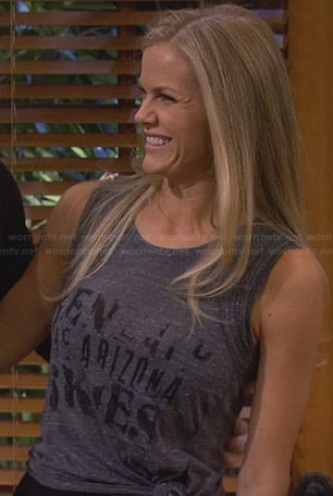 "Jules's grey ""Beneath The Arizona Skies"" top on Friends with Better Lives"