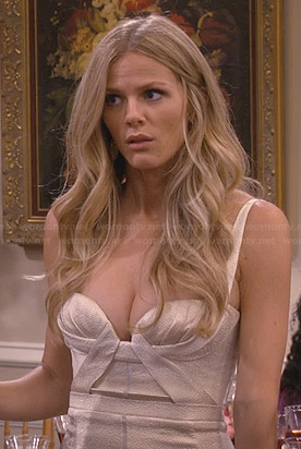 Jules's metallic bustier dress on Friends with Better Lives