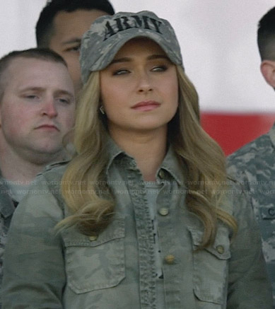 Juliette's camo army shirt on Nashville