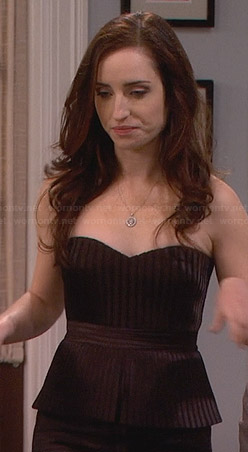 Kate's black strapless pleated peplum dress on Friends with Better Lives