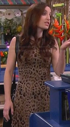 Kate's leopard print dress on Friends with Better Lives