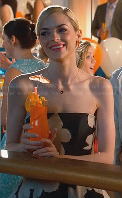 Lemon's black and white strapless dress on Hart of Dixie