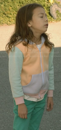 Lily's pastel colorblock hoodie on Modern Family